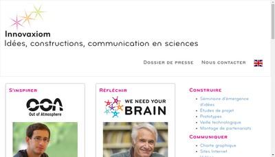 Site internet de Innovaxiom