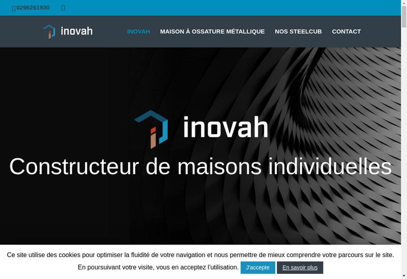 Capture d'écran du site de Inovah