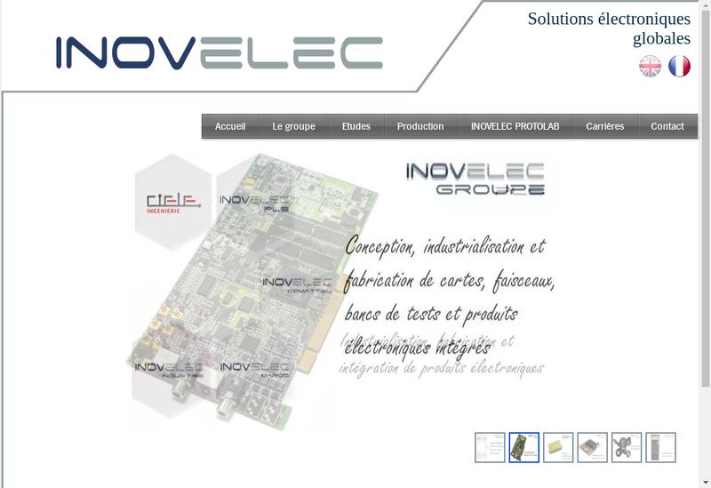 Capture d'écran du site de Inovelec-Pls