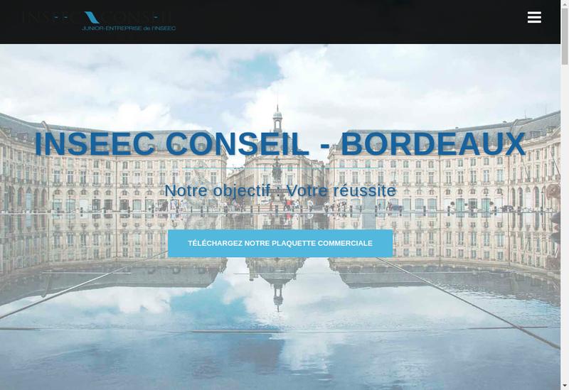 Capture d'écran du site de Inseec Conseil - Bordeaux