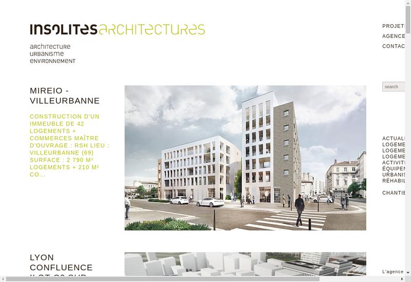 Capture d'écran du site de Modulo Architectes