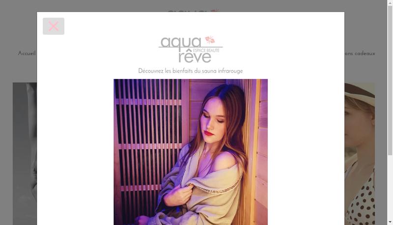 Capture d'écran du site de Aquareve