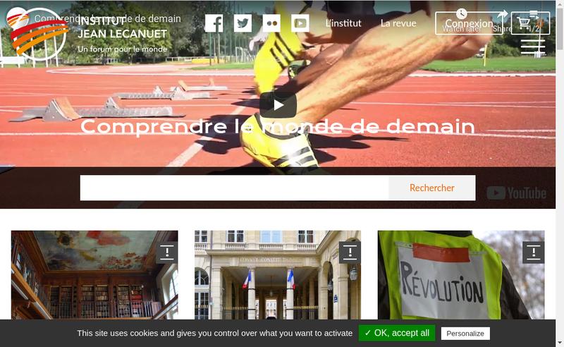 Capture d'écran du site de Institut Jean Lecanuet