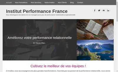 Site internet de Institut Performance France