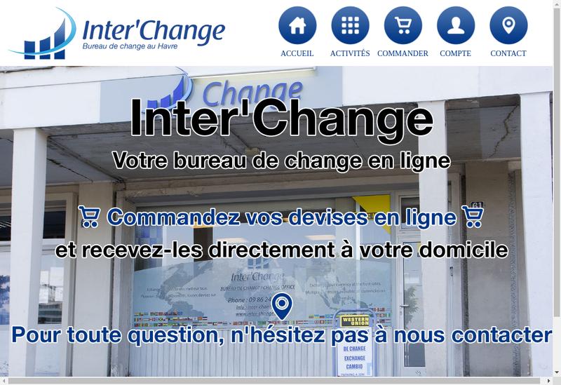 Capture d'écran du site de Inter Change