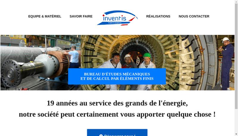 Capture d'écran du site de Inventis SAS