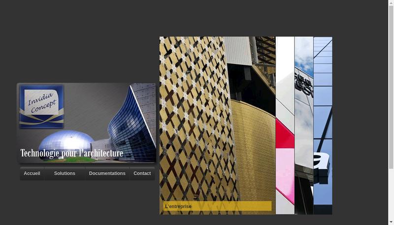 Capture d'écran du site de Invidia Concept