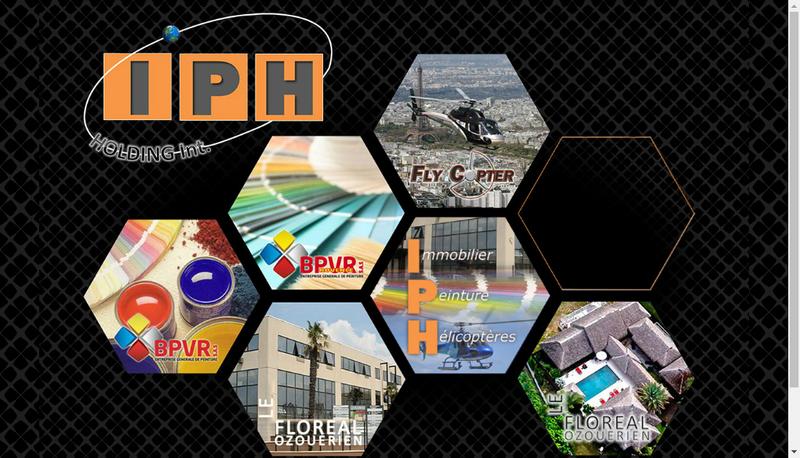 Capture d'écran du site de Iph Holding Int