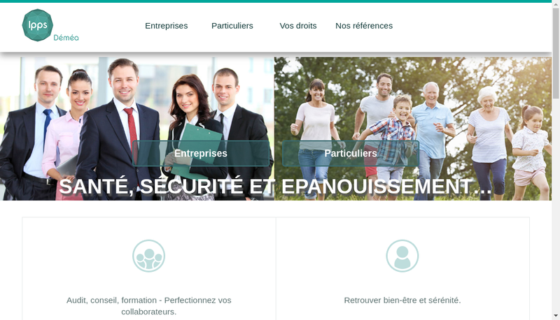 Capture d'écran du site de Ipps Demea
