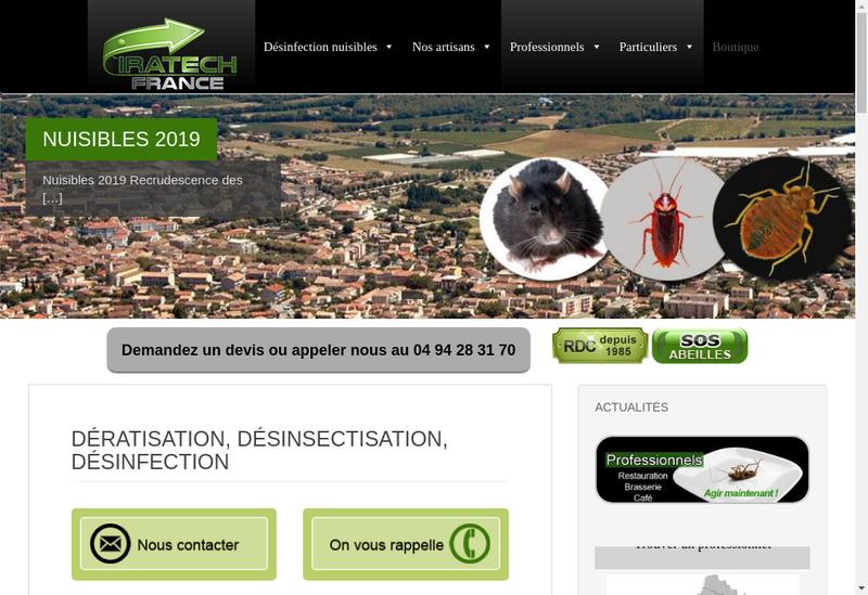 Capture d'écran du site de Iratech France