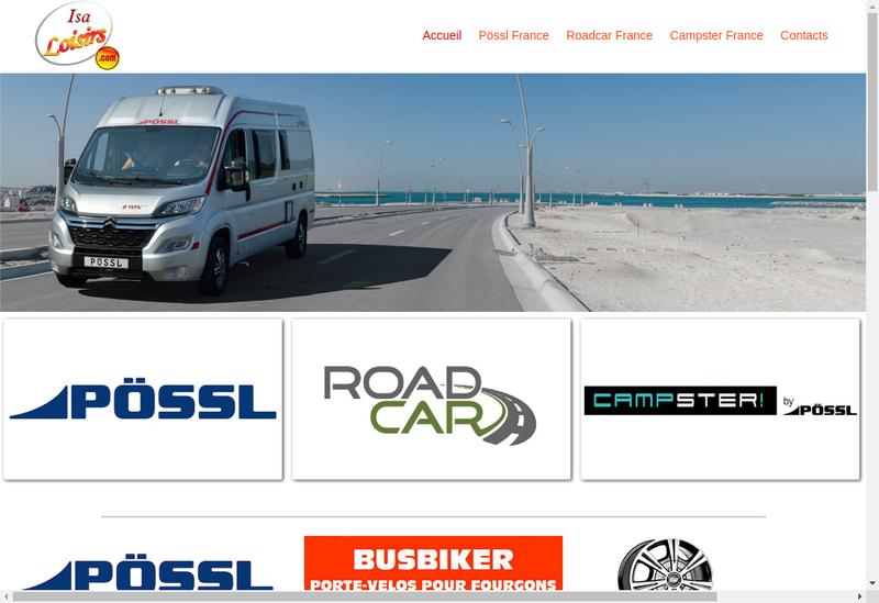 Capture d'écran du site de Isaloisirs