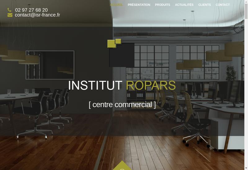 Capture d'écran du site de Institut Ropars