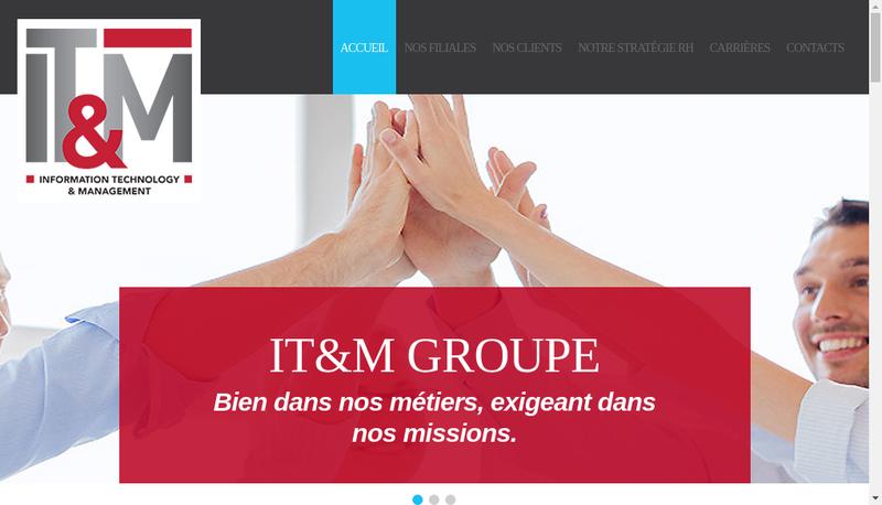 Capture d'écran du site de It & M Consulting