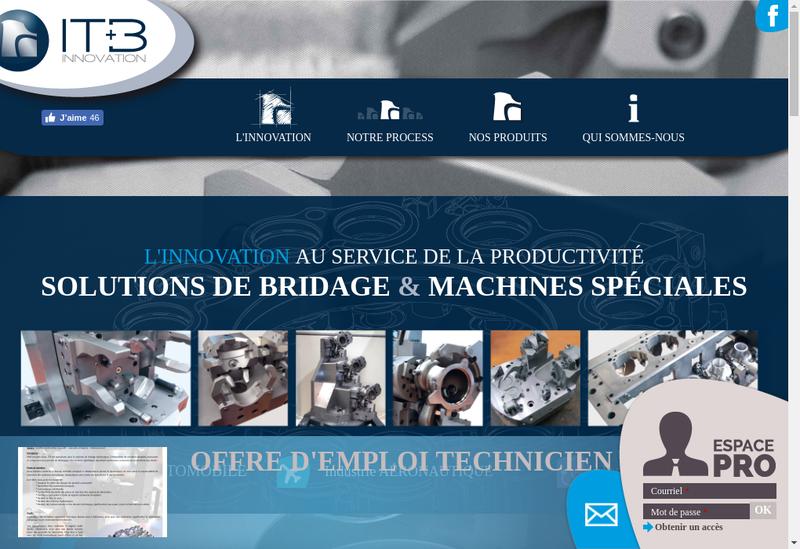 Capture d'écran du site de Itb Innovation