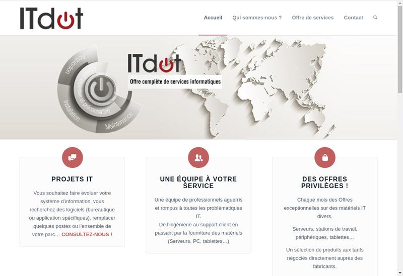 Capture d'écran du site de Itdot