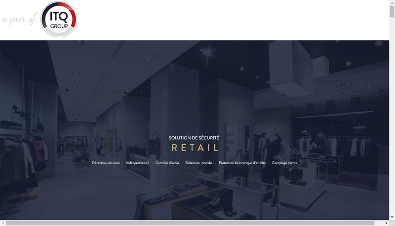 Capture d'écran du site de Itq Group