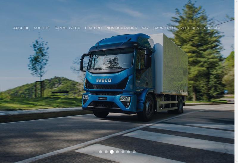 Capture d'écran du site de Iveco