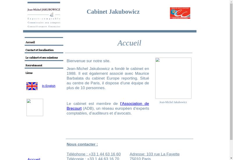 Capture d'écran du site de Jean Jakubowicz