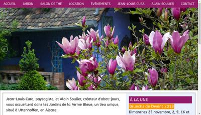 Capture d'écran du site de Les Jardins de la Ferme