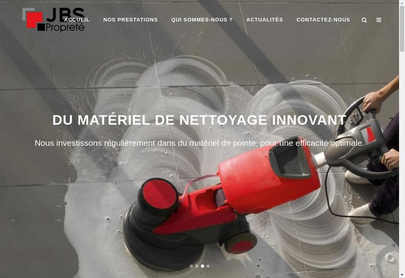 Capture d'écran du site de Jbs Proprete