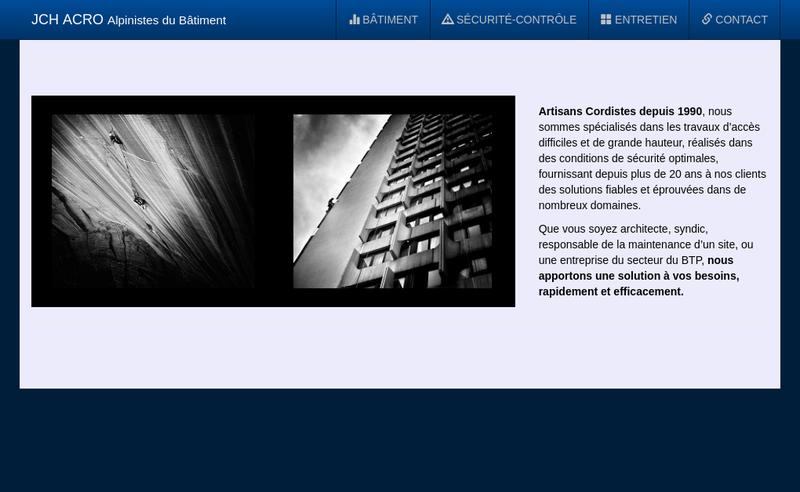 Capture d'écran du site de Jean Humbert