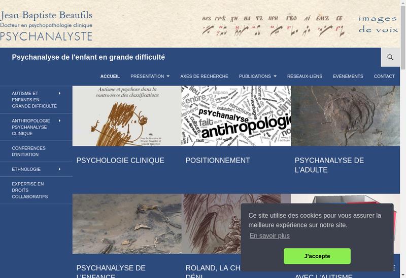 Capture d'écran du site de Jean Baptiste Dupas