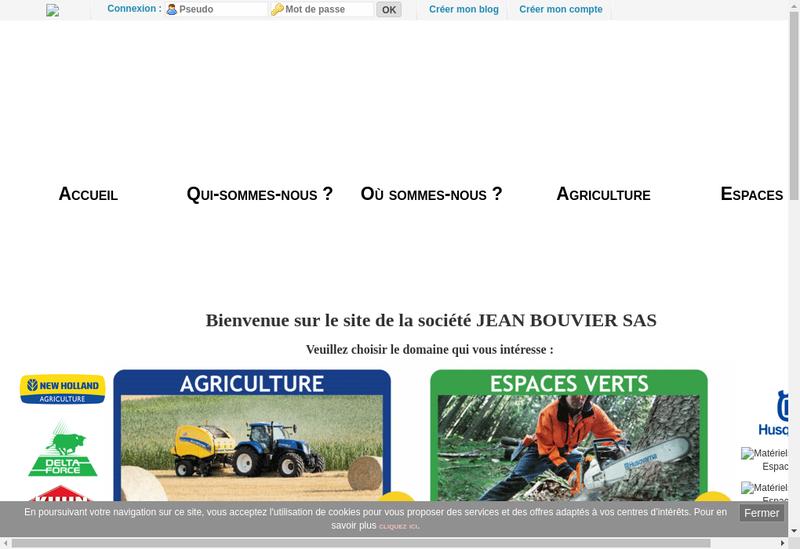 Capture d'écran du site de Jean Bouvier SAS