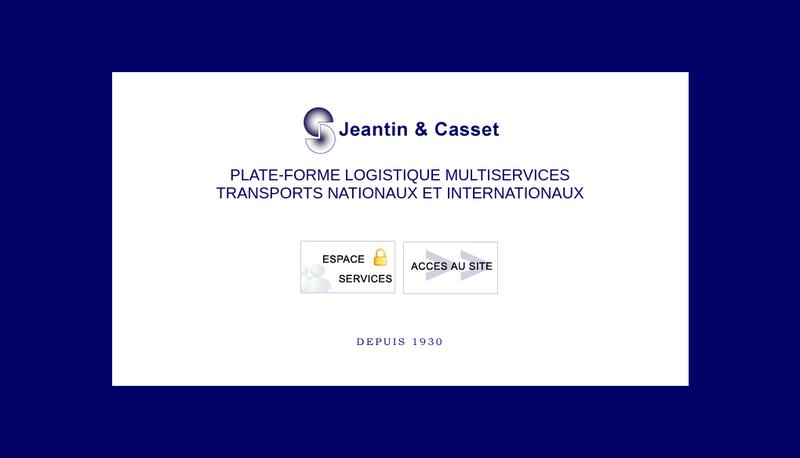 Capture d'écran du site de Jeantin Casset Transports