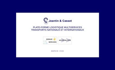Site internet de Jeantin Casset Transports