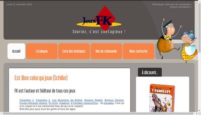 Site internet de Jeux FK