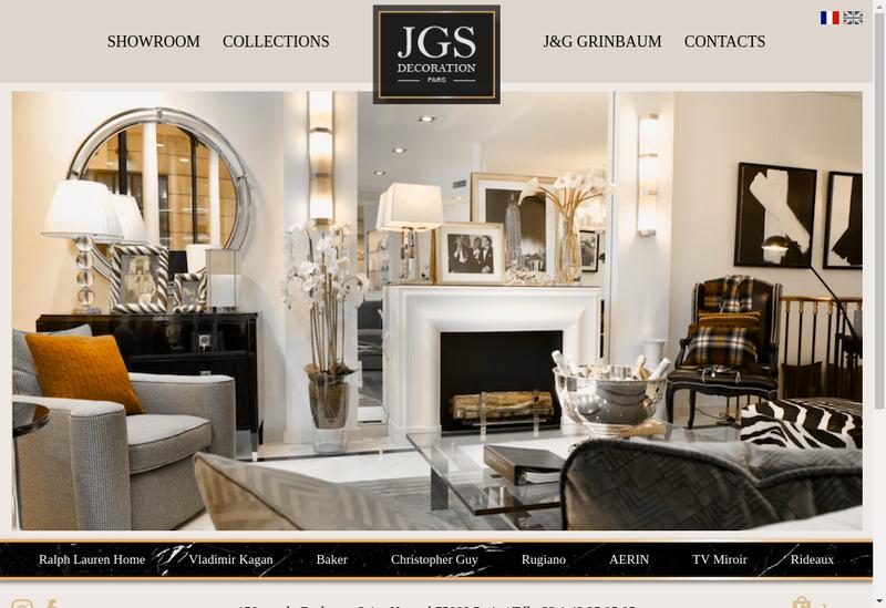 Capture d'écran du site de JGS