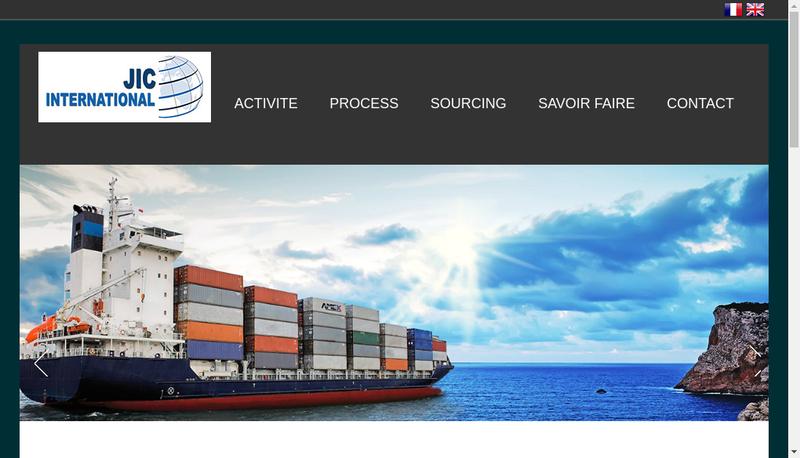 Capture d'écran du site de Jic International