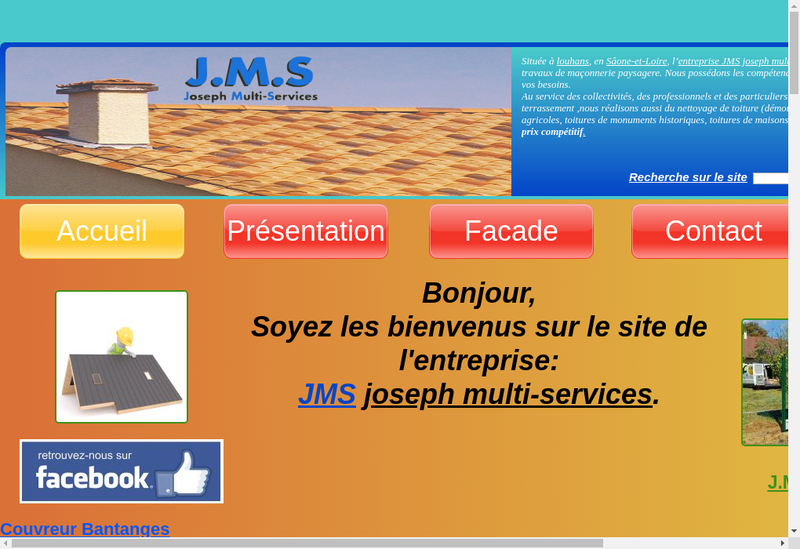 Capture d'écran du site de JMS Joseph Multi-Services