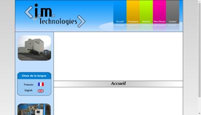 Capture d'écran du site de JM Technologies