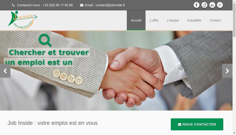 Capture d'écran du site de Jobinside