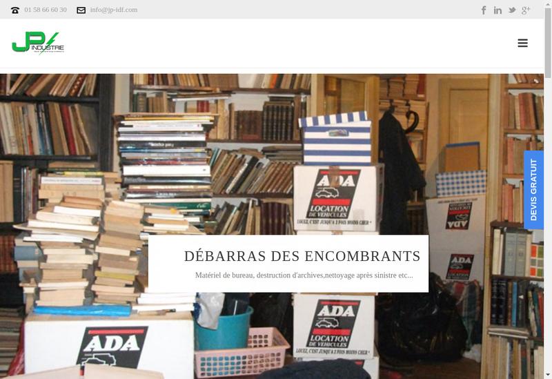 Capture d'écran du site de Gp Industrie