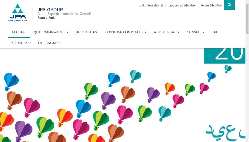 Capture d'écran du site de Jpa Group
