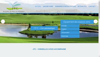 Capture d'écran du site de JTC