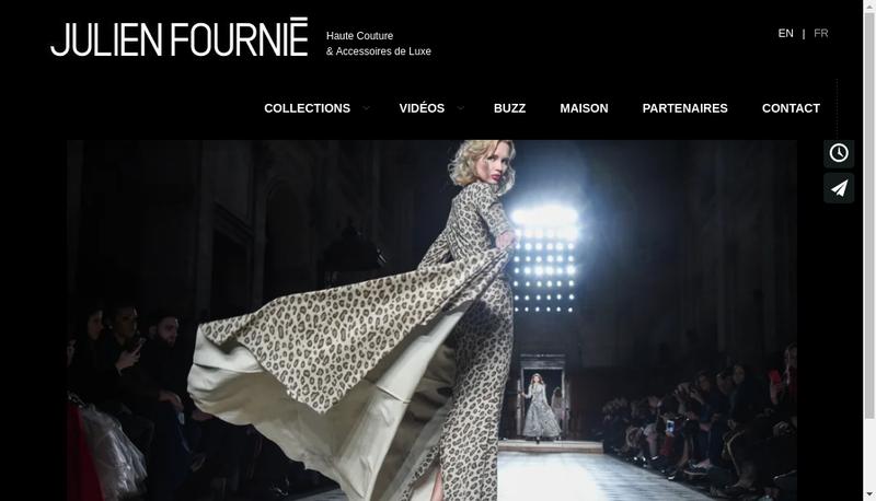 Capture d'écran du site de Julien Fournie