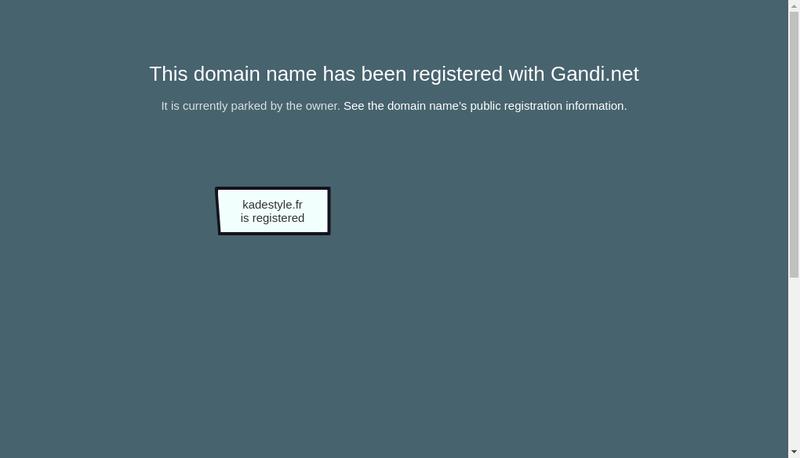 Capture d'écran du site de Kadestyle
