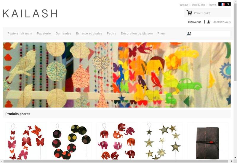 Capture d'écran du site de Kailash SARL