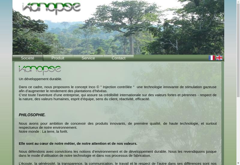 Capture d'écran du site de Kanopee