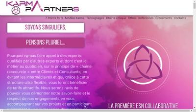 Site internet de Karma Partners