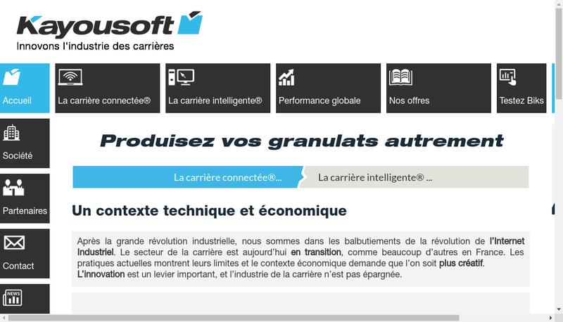 Capture d'écran du site de Eie Guerrier
