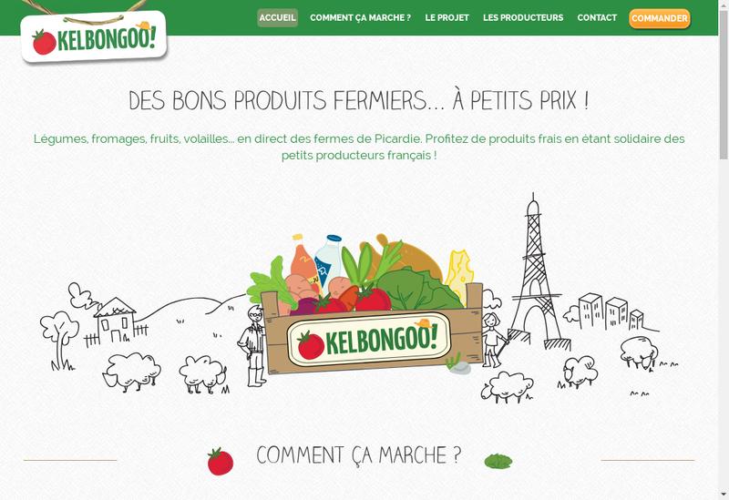 Capture d'écran du site de Kelbongoo
