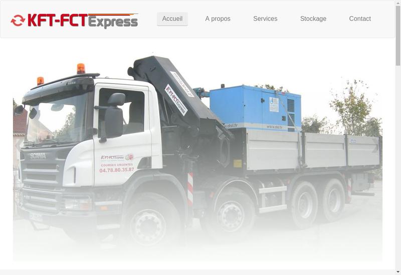 Capture d'écran du site de Kft Fct Express