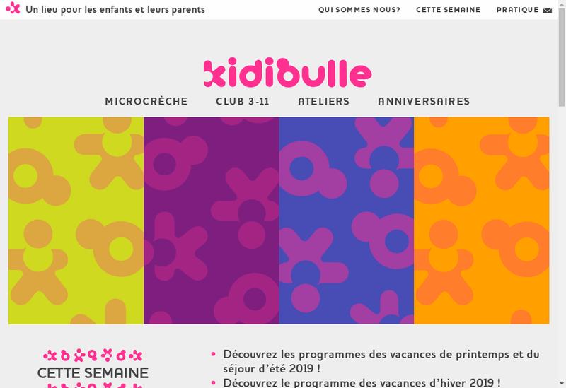 Capture d'écran du site de KIDIBULLE