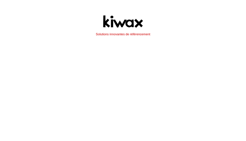 Site internet de Kiwax
