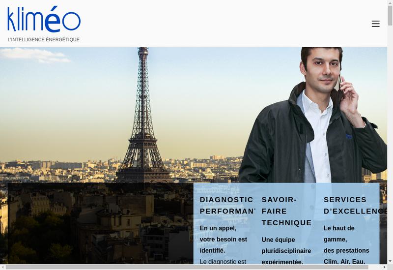 Capture d'écran du site de Klimeo