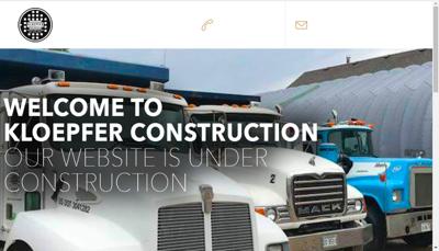 Capture d'écran du site de Kloepfer Construction